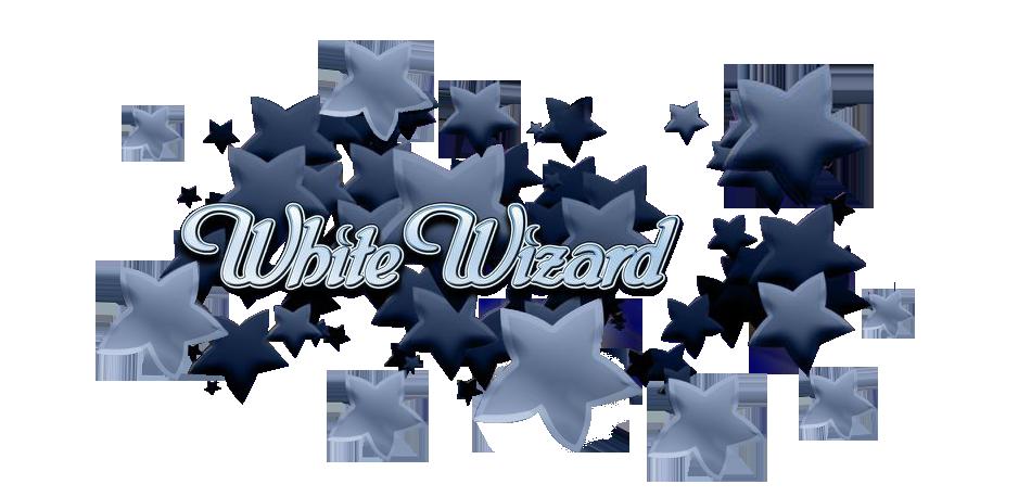 White Wizard Slots Logo Slots Baby